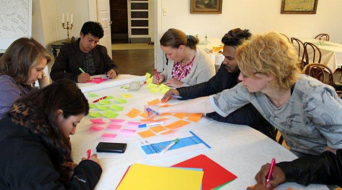 Group work and participatory methods were used in the training