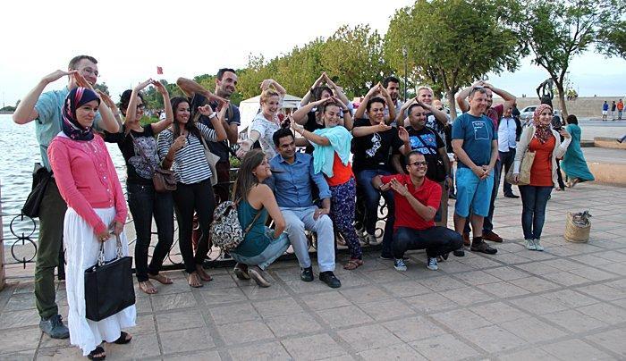 A local association Errahim took the Europeans to visit the city of Meknès.
