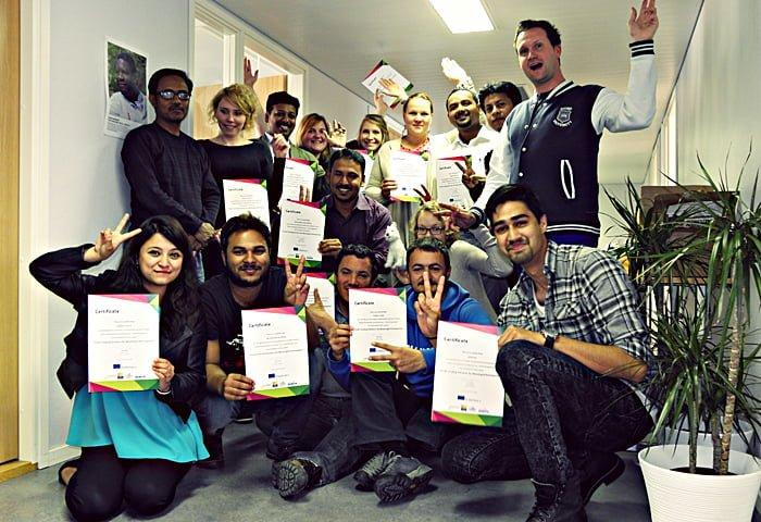 Trainings ended with distribution of certificates. Photo: Nina Požun